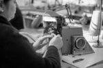 Фото процесса производства трикотажа на фабрике